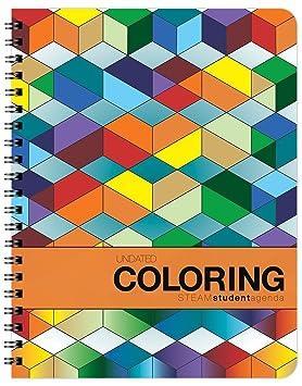 Undated Coloring Académico Agenda - Organizador semanal y ...