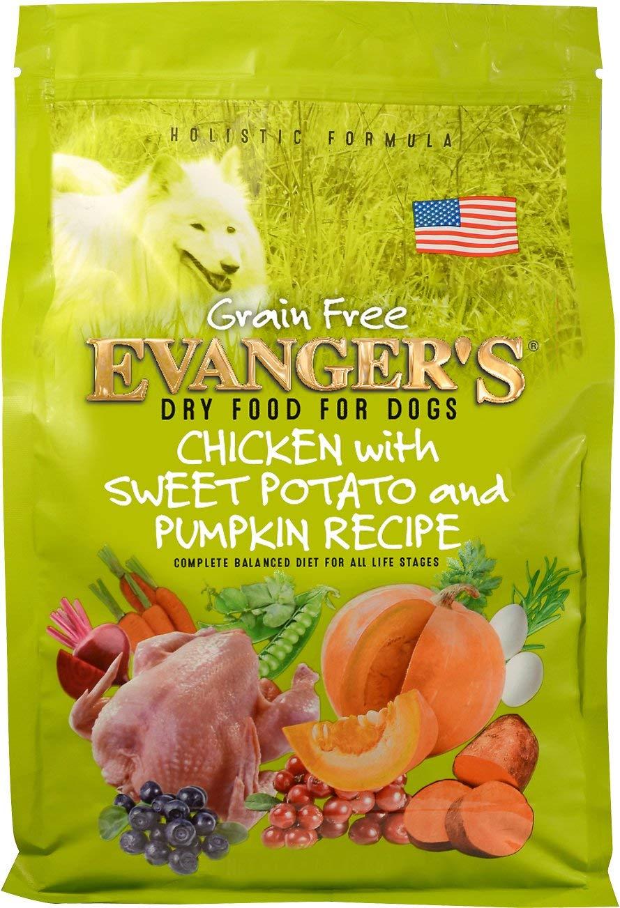 Evanger'S Grain Free Chicken With Sweet Potato & Pumpkin Dry Dog Food, 4.4-Pound by Evangers