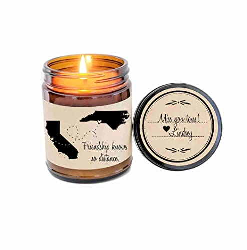 Amazon BFF Gift Long Distance Friendship Best Friend Soy Candle Love For Scented Birthday Valentine