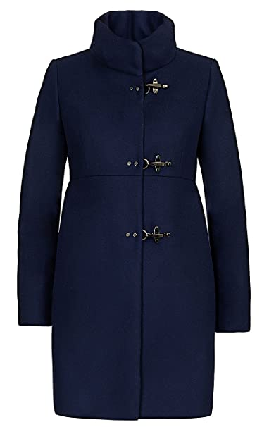 Fay Cappotto Lungo Blu in Lana 35afc67a6ab7