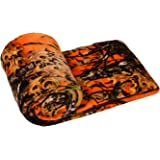The Woods Collection Cashmere Fleece Blanket (Orange, Twin) by Regal Comfort