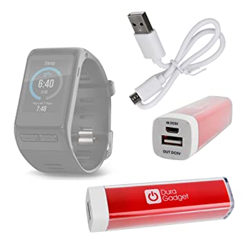 Duragadget Batterie Externe Universelle portative pour Montre connectée Garmin Vivoactive HR, OUKITEL A28 SmartWatch,