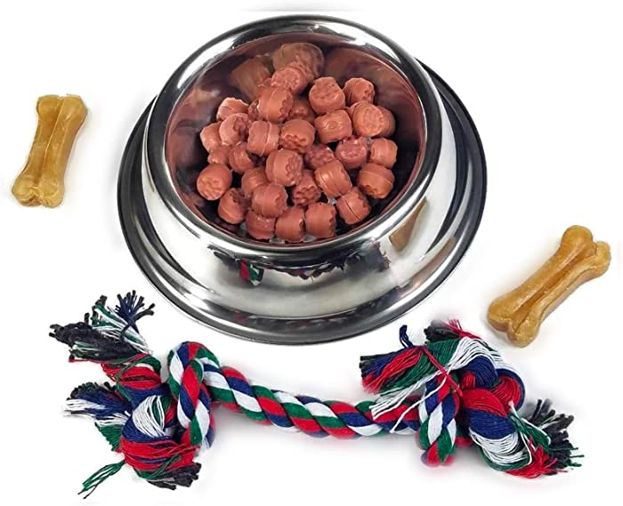 Silver Bowl with Simulated Pet Food, Colorful Chew Toy for Lifelike Stuffed Interactive Pet, Dog Bones for Breathing Pets – Perfect Petzzz