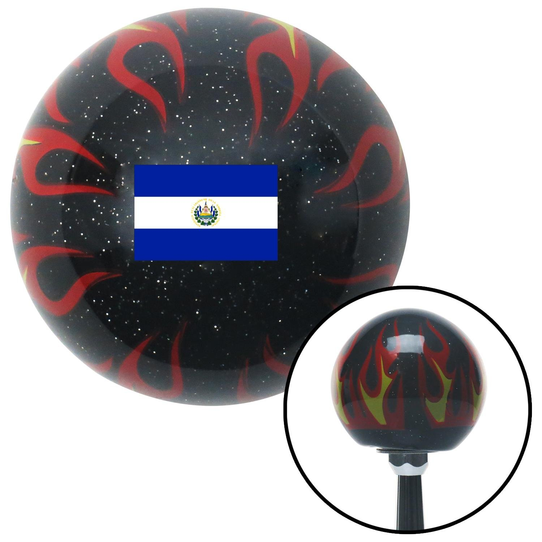 American Shifter 309438 Shift Knob El Salvador Black Flame Metal Flake with M16 x 1.5 Insert