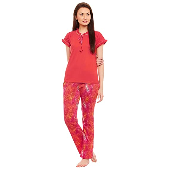 ffd99b6990 Claura Cotton Printed Half Sleeve Lower Top Pyjama Set (Night Suit Set):  Amazon.in: Clothing & Accessories