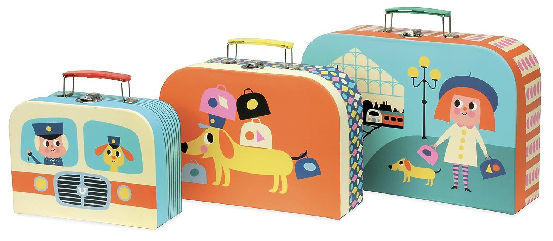 Vilac vilac7711Pappe Koffer Set (3-teilig) PODBI