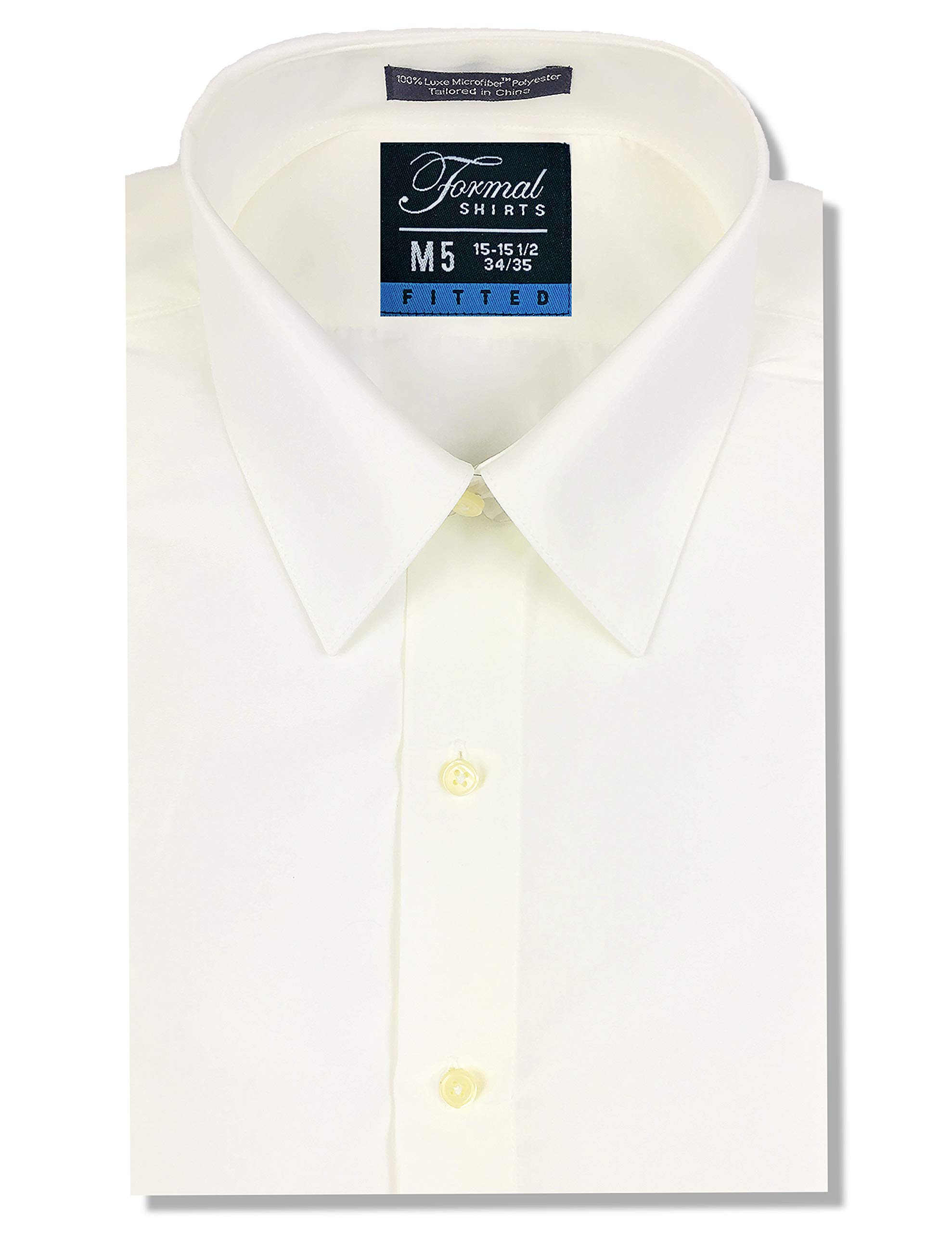 Luxe Microfiber Men's Fitted Point Collar Dress Shirt