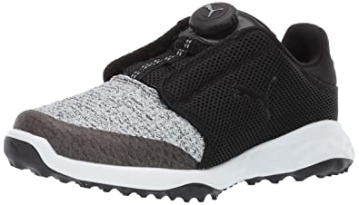 4cd8532d804 Puma Golf Kid s Grip Fusion Sport Disc Golf Shoe puma Black-Quarry 1 M US