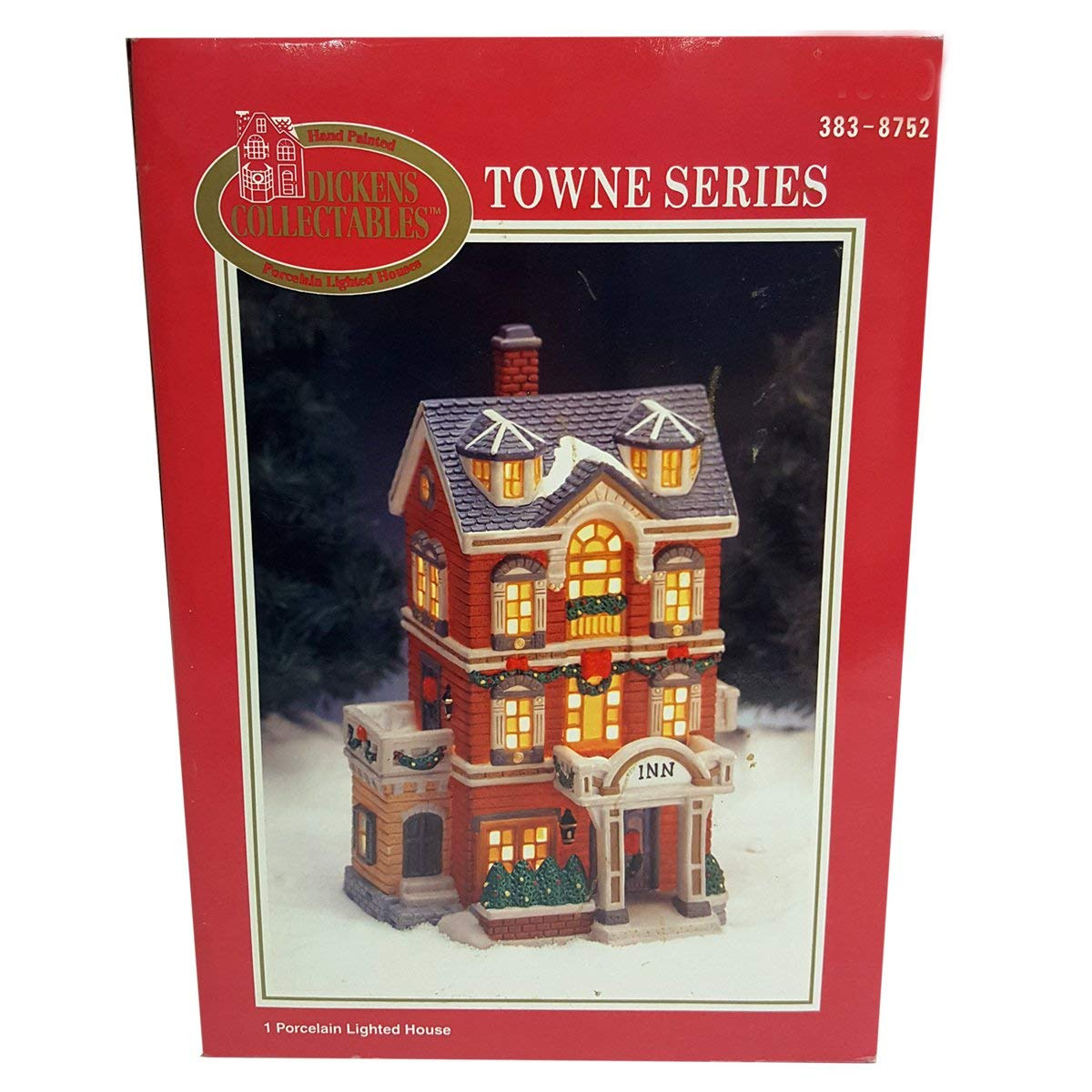 Dickens Collectibles 1997 Towne Series Porcelain Lighted House - Inn 383-8752