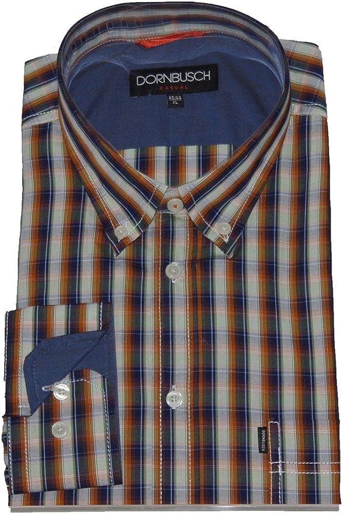 Mandril Busch Hombre Camisa 1/1 Arm 830041 de 16 cuadros azul/marrón 16 L: Amazon.es: Ropa y accesorios