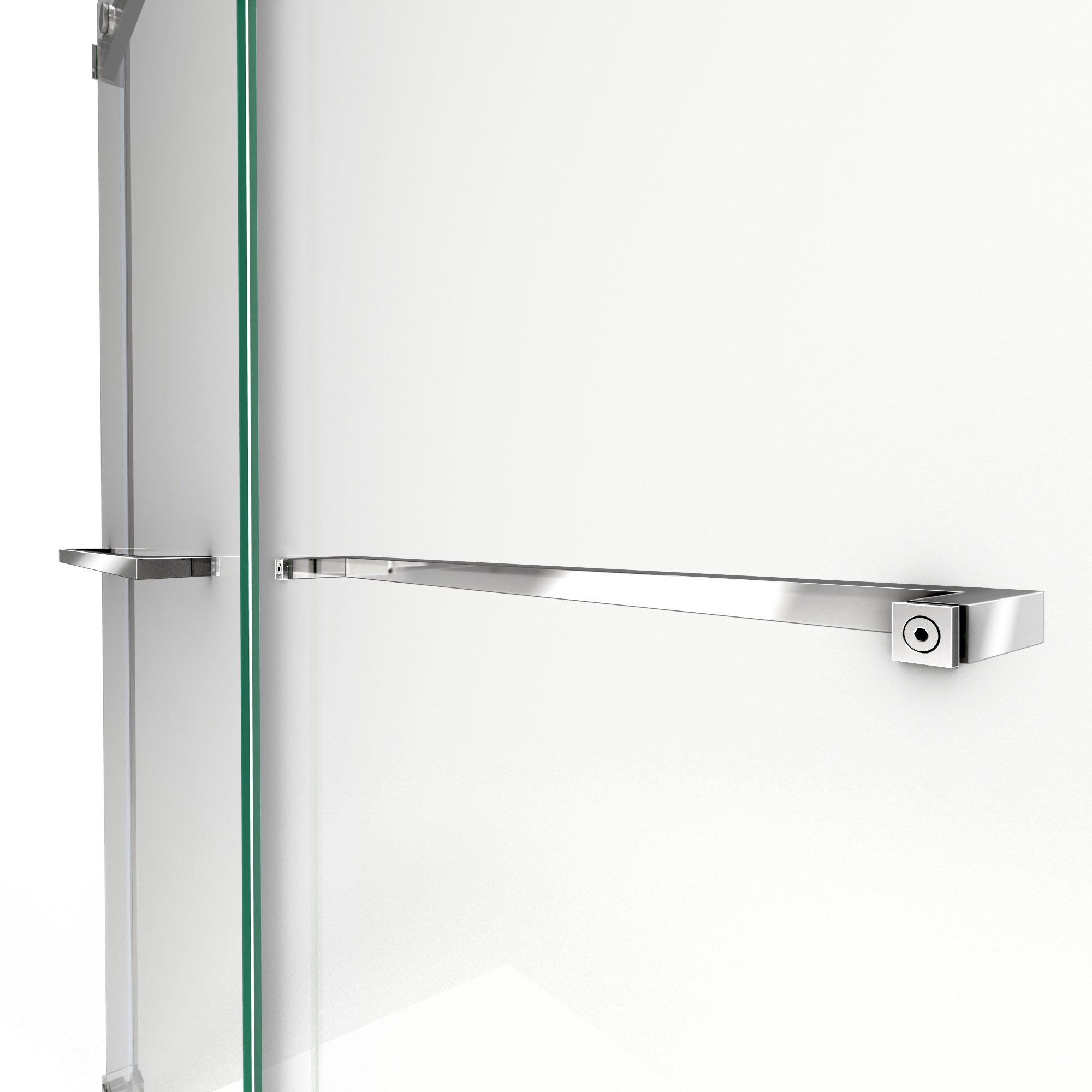 DreamLine SHDR-6360760-04  Essence 56 to 60 in. Frameless Bypass Shower Door in Brushed Nickel Finish by DreamLine (Image #6)