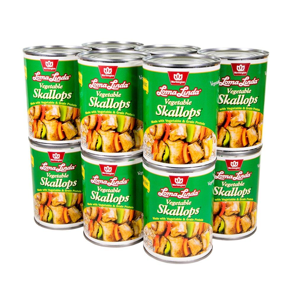 Loma Linda - Vegetarian - Vegetable Skallops (20 oz.) (Pack of 12) - Kosher by Loma Linda