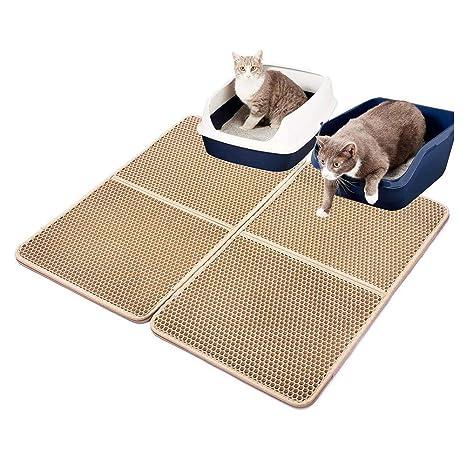 HoneybeeLY Almohadilla de Arena para Gatos, sábana para Limpiar el Inodoro, para Cama Doble