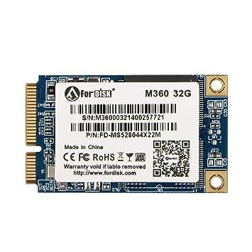 Fordisk SSD mSATA2 32G - Dispositivo de Almacenamiento para Ordenador portátil: Amazon.es: Informática