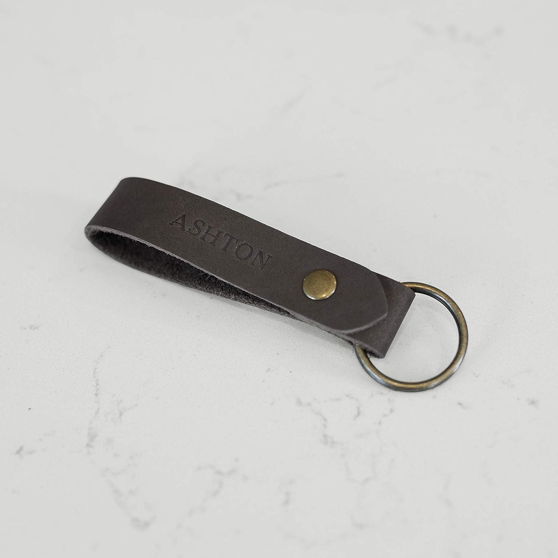 Custom Keychain Personalized Keychain Engraved Keychain Clasp Keychain Trigger Clasp Keychain --FXCLASP-B-JOHNSMITH Faux Leather Keychain