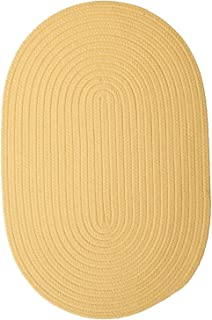 product image for Colonial Mills Boca Raton Pale Banana Area Rug Oval 10'x13'