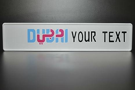 Dubai License Plate Arabic Arab U A E Number Plate Euro