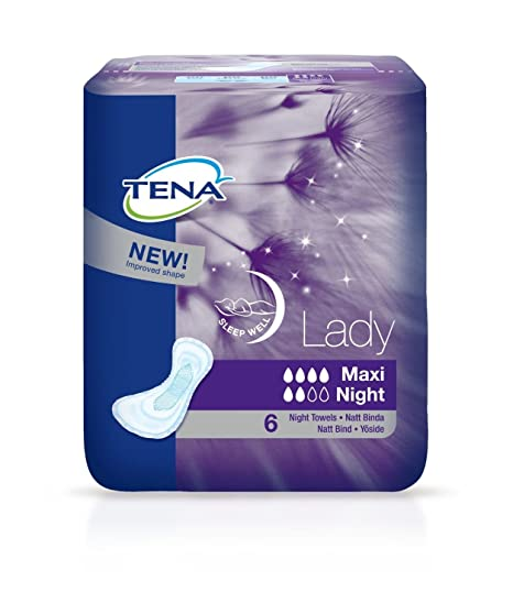 Tena Lady Maxi Night - Absorbency 380ml - 6 Pieces - by Tena