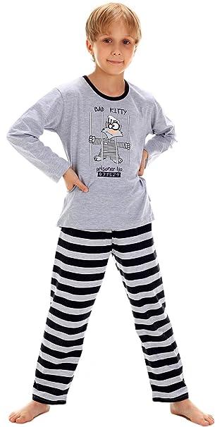 Cornette Pijamas Niño Verano Invierno CR-809-Prisoner: Amazon.es: Ropa y accesorios