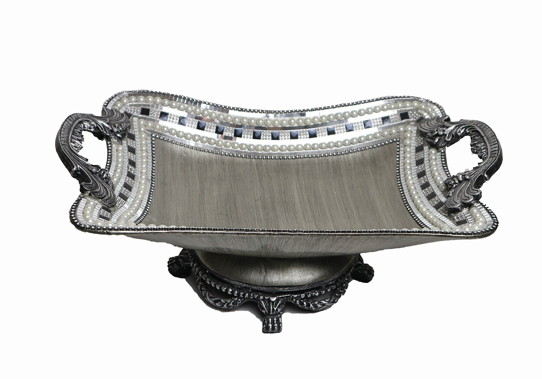 D'Lusso Designs 19 Inch Silver Centerpiece
