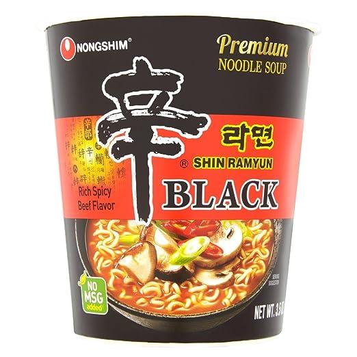 3 opinioni per Nong Shim Instant di Coppa Pasta Shin ramyun, Black, 6confezioni (6x 100G)
