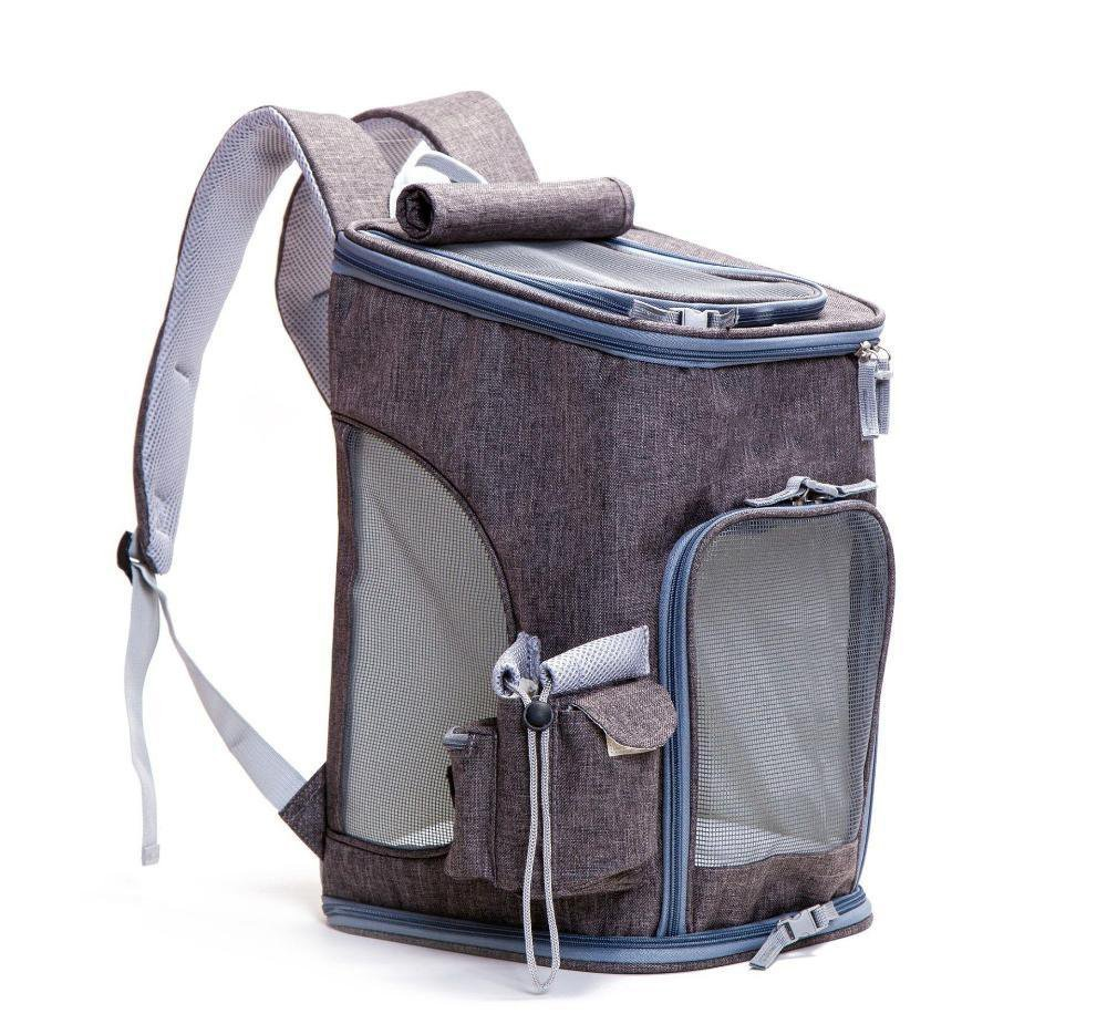 Dixinla Pet Carrier Backpack Mabu breathable foldable polyester 27  28  45cm with shoulders out