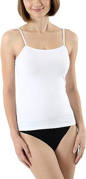 ALBERT KREUZ Camiseta Interior con Tirantes Espagueti Regulables en algodón Elastico Blanco: Amazon.es: Ropa y accesorios