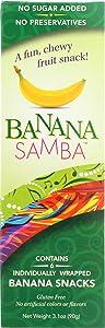 Banana Samba, Snacks Fruit Banana No Sugar Added, 3.1 Ounce