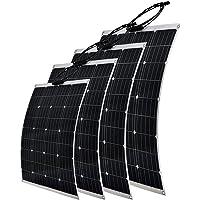 Gencity 100W 120W 200W 250W Flexible Solar Panel 12V Boat Caravan Camping Power Battery Mono Charging Kit