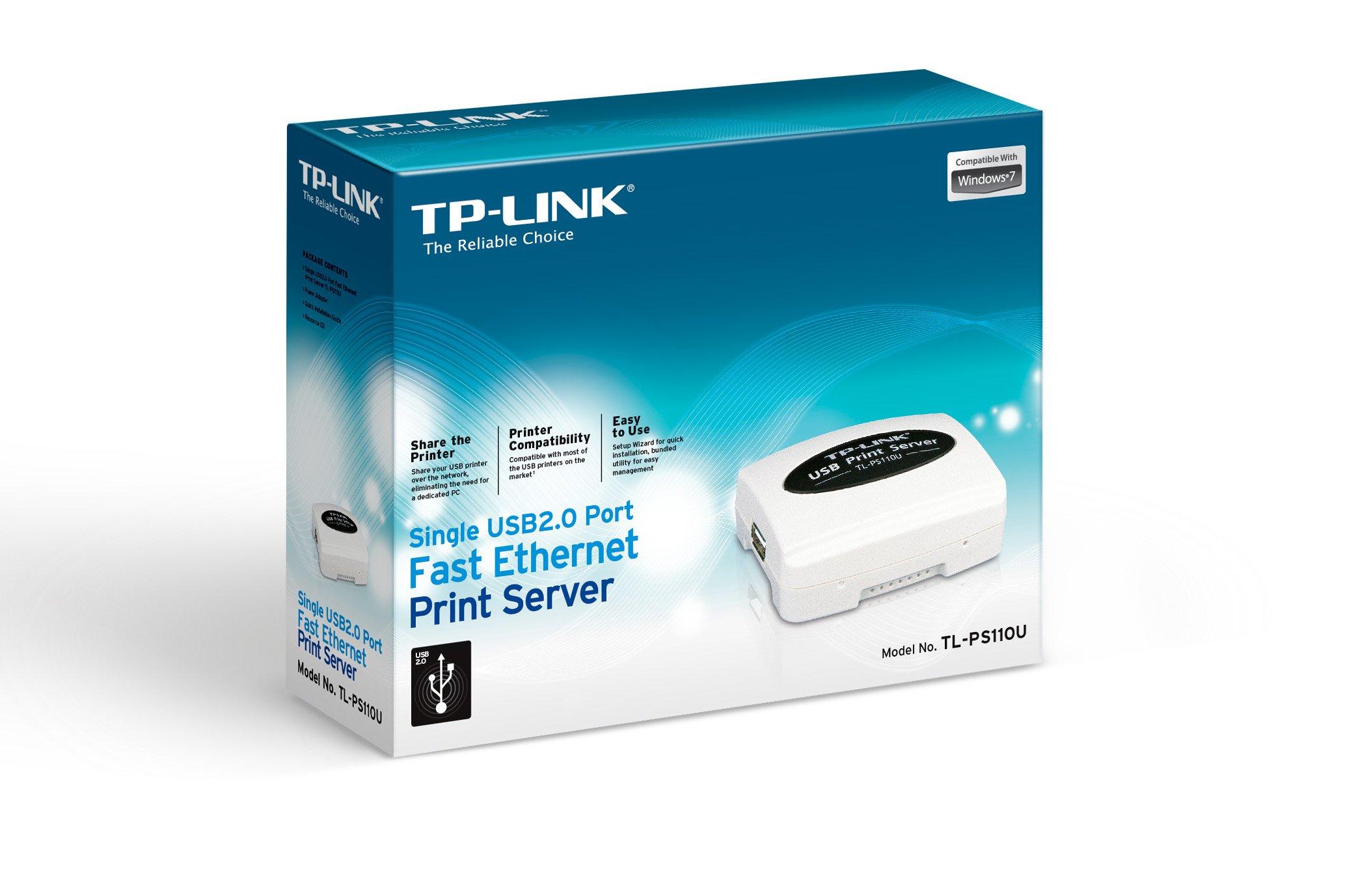 TP-LINK Tl-Ps110U Single Usb2.0 Port Fast Ethernet Print Server by TP-LINK