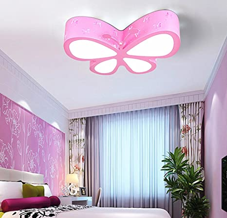 Children S Led Ceiling Lamp Creative Butterfly Light Children S Room Ceiling Lamp Bedroom Lamp Girl Princess Room Lamps 50 40 10cm 24w White Light Energy Class A Color Pink Amazon Com