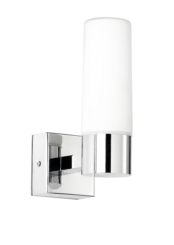 WOFI classico specchio lampada da parete per bagno, LED Artus in cromo e vetro, 4623.01.01.0044 [Classe di efficienza energetica A+]
