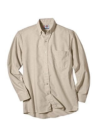 Dickies Workwear ss36tk ocupacional poliéster/algodón camisa de button-down de manga larga Oxford para hombre, luz de color caqui, 14-1/2 Inches Reg ...