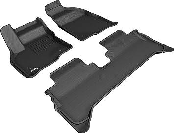 Kagu Rubber Black 3D MAXpider Second Row Custom Fit All-Weather Floor Mat for Select Chevrolet Volt Models