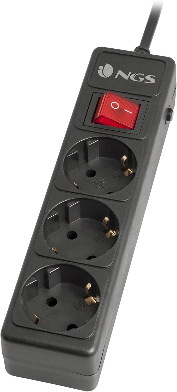 NGS Grid 800 limitador de tensión 8 Salidas AC 1,5 m Negro ...