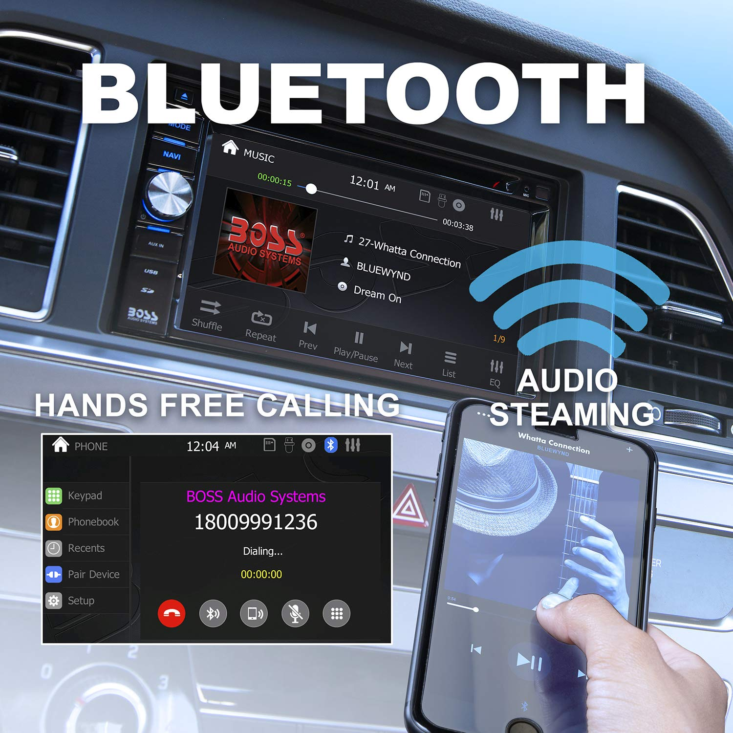Boss Audio Bv9384nv Navigation Double Din Bluetooth Kia Sedona Parts Diagram Http Wwwkiapartsoverstockcom Showassembly And Calling 62 Inch Lcd Touchscreen Monitor Built In Microphone Mp3 Player