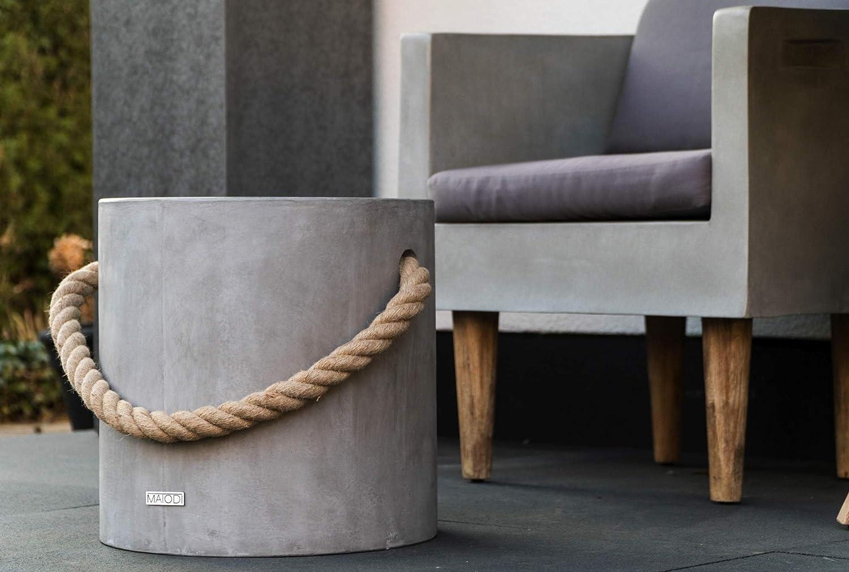 Matodi Novum Sitzhocker Beton Betonhocker Beistelltisch Hocker mit Tau