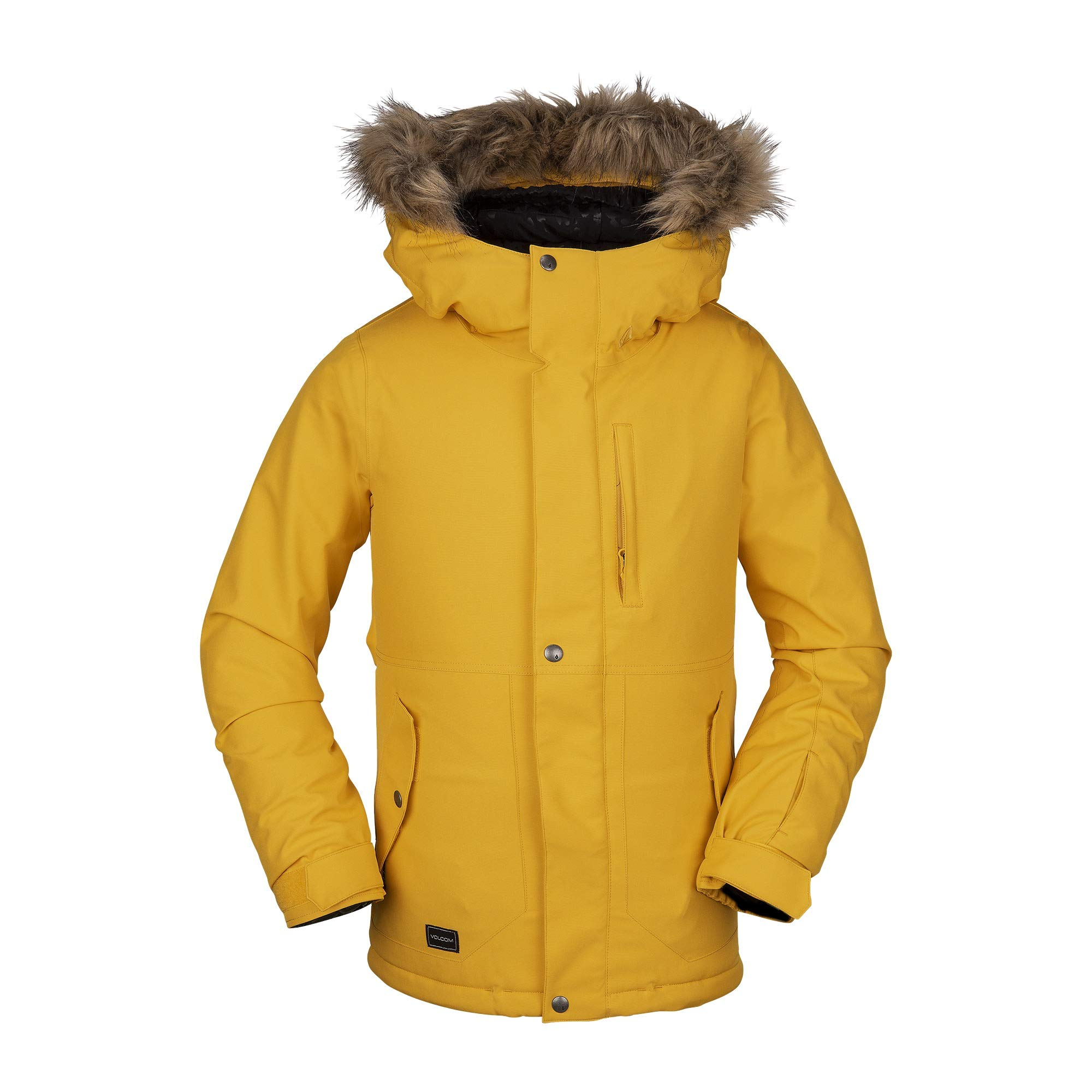 Volcom Big Girl's So Minty Insulated Snow Jacket, Yellow, Small by Volcom
