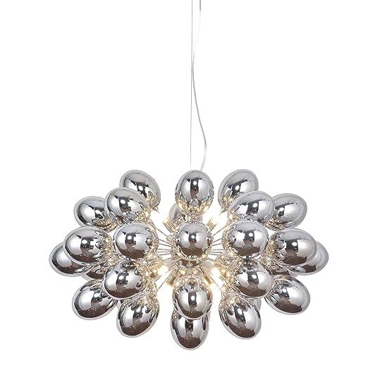 Kare - Lámpara de techo, diseño de globo, color plateado ...