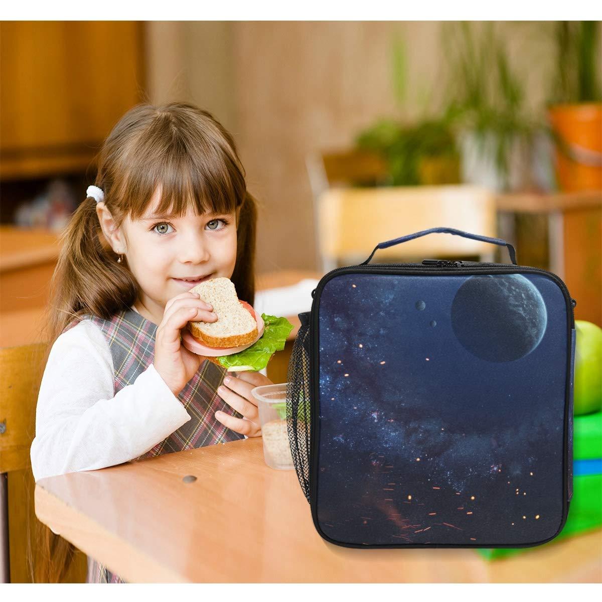 Orediy - Bolsa térmica para para para almuerzo con aislamiento, reutilizable, diseño de planetas e28813
