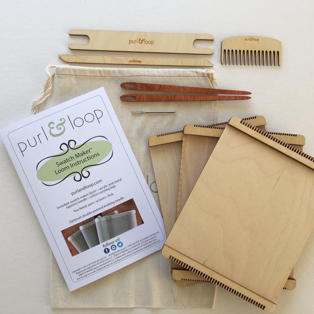 Purl & Loop Swatch Maker Weaving Loom (Birch, Set of 3)