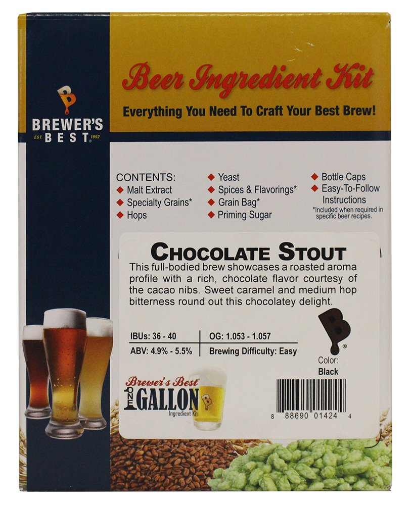 Home Brew Ohio Brewer's Best One gallon Beer Ingredient Kit-Chocolate Stout