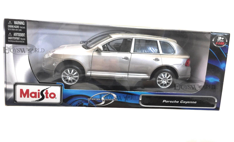Amazon.com: Maisto 1:18 Scale Silver/Grey Porsche Cayenne Diecast Model Car: Toys & Games