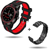 Smart Watch, Seeksung Smart Wear, Bluetooth Cell Phones, Heart Rate Monitor Activity Tracker Pedometer Sleep Analysis Calorie Counter For Ios Android And Iphone,Free Metal Strap