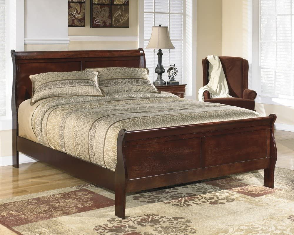 Ashley Furniture Signature Design - Alisdair Queen Sleigh Headboard/Footboard - Component Piece - Dark Brown