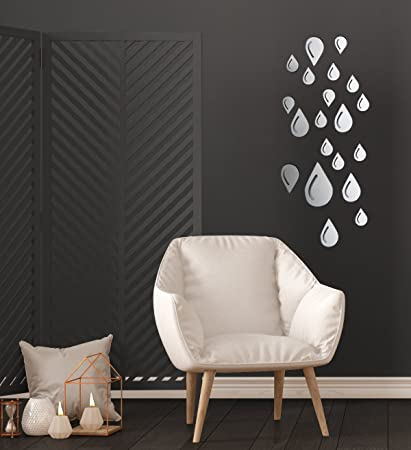 Raindrop Wall Decals - Mirror Wall Stickers - 3D Wall Stickers - Raindrops Wall Décor - & Amazon.com: Raindrop Wall Decals - Mirror Wall Stickers - 3D Wall ...
