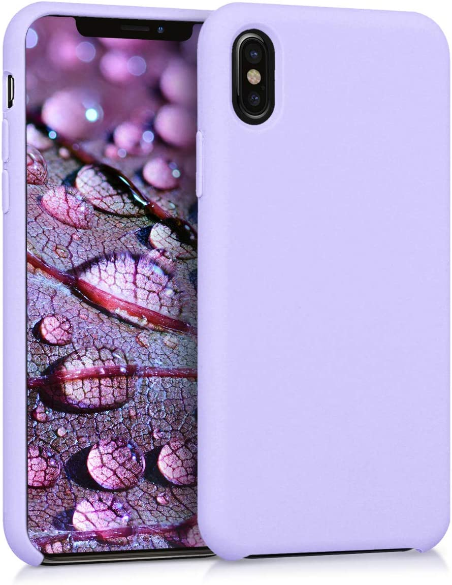 kwmobile TPU Silicone Case Compatible with Apple iPhone X - Soft Flexible Rubber Protective Cover - Lavender