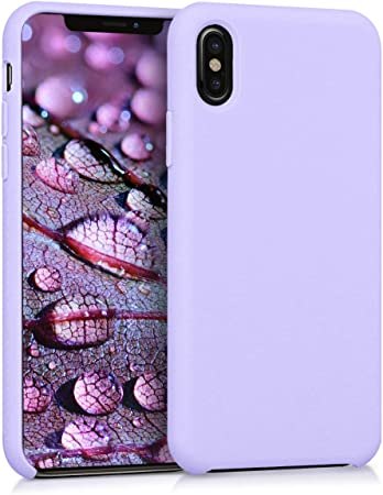 Kwmobile Hülle Kompatibel Mit Apple Iphone X Handyhülle Gummiert Handy Case In Lavendel Elektronik