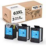 TESEN Remanufactured 63XL Ink Cartridge Replacement for HP 63 XL 63XL to use with HP Envy 4520 4516 Officejet 4650 3830 4655