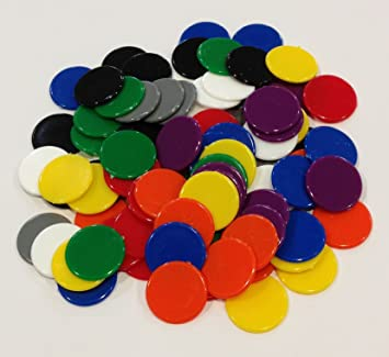 Fichas de plástico: Negro, Gris, Blanco, Rojo, Naranja, Amarillo, Verde, Azul, y morado color juego Fichas ...